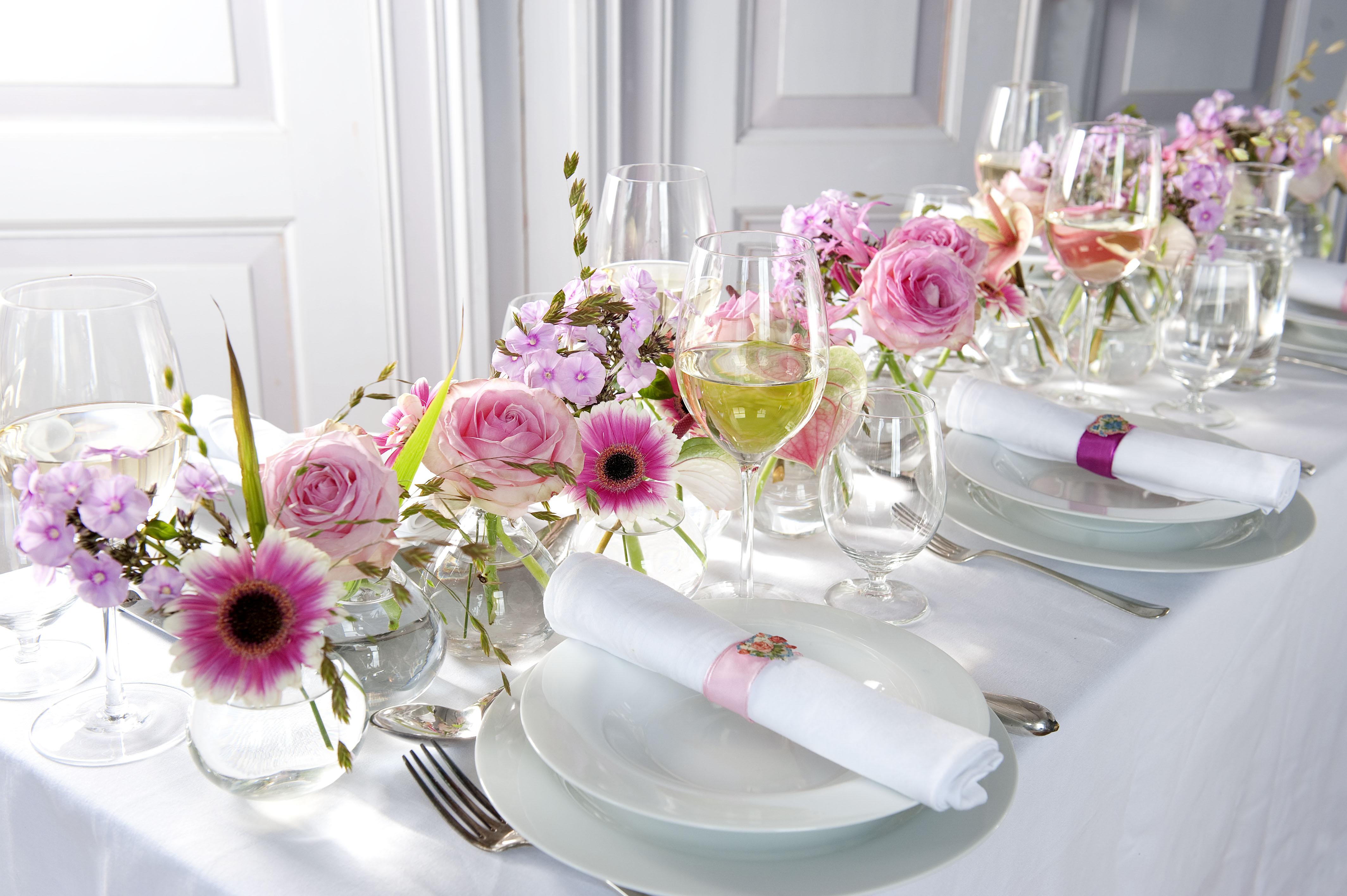 Bruidsboeket en bloemen bloemen francois van gurp for Tafeldecoratie bruiloft